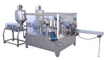 Rotary bag-given jam/paste/juice/butter packing machine(Double filling)