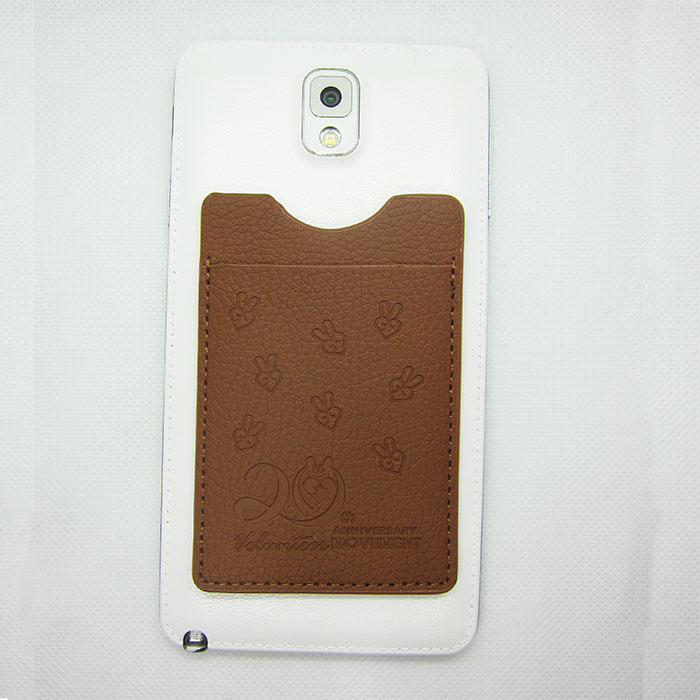 Universal Adhesive PU Leather 3m Sticker Smart Wallet Mobile Phone Card Holder