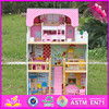 2016 top fashion funny children wooden dollhouse toys W06A163-A19