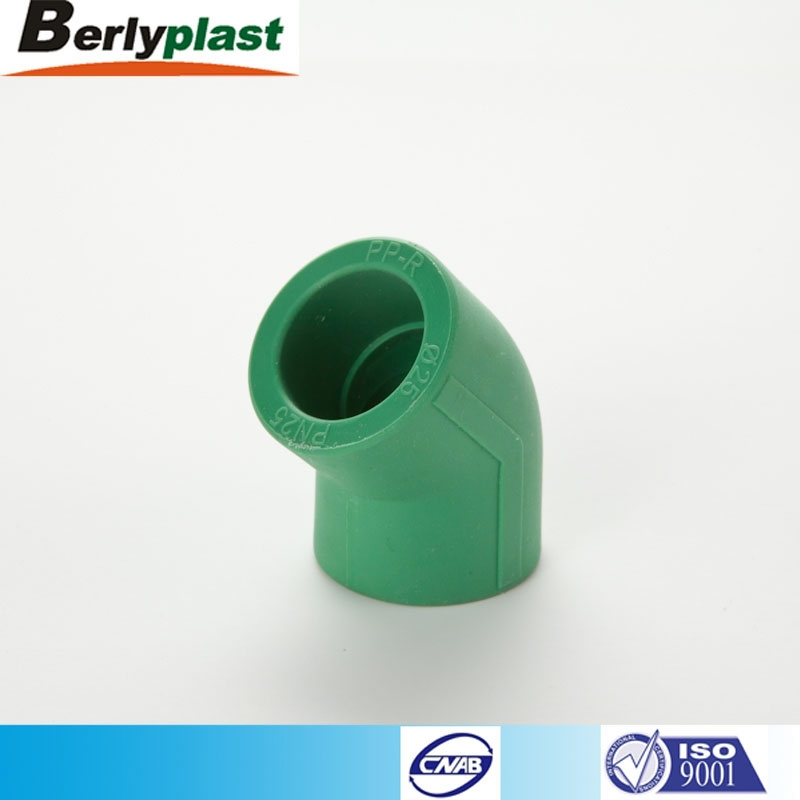 New Design Chinese Wholesale plastic Plumbing elbow 45 Materials Supply