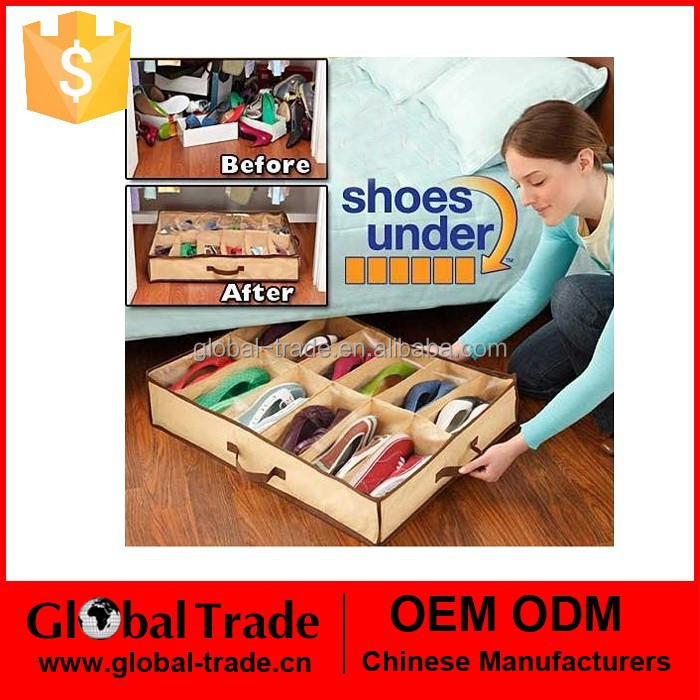 1pcs Fabric Closet Organizer Under Bed Storage Holder Box Container Case Storer For 12 Pairs Shoes H0161
