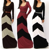 Instyles women 's Celeb Style Long Sleeve Slim Maxi Dress With Belt Beach Sex xxl photo ARABIC Maxi Dress Securement payment