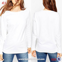 2016 New arrival good quality fashion ladies latest design woman 100% cotton white knitted sweater