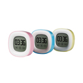 YGH126 LED Colour Digital LCD Alarm Clock Time Night Light Digital Desk Clock