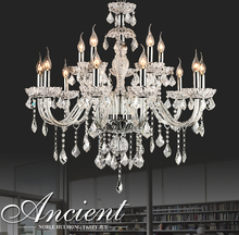 Contemporary 40W Candle Chandelier Crystal for Home Lighting
