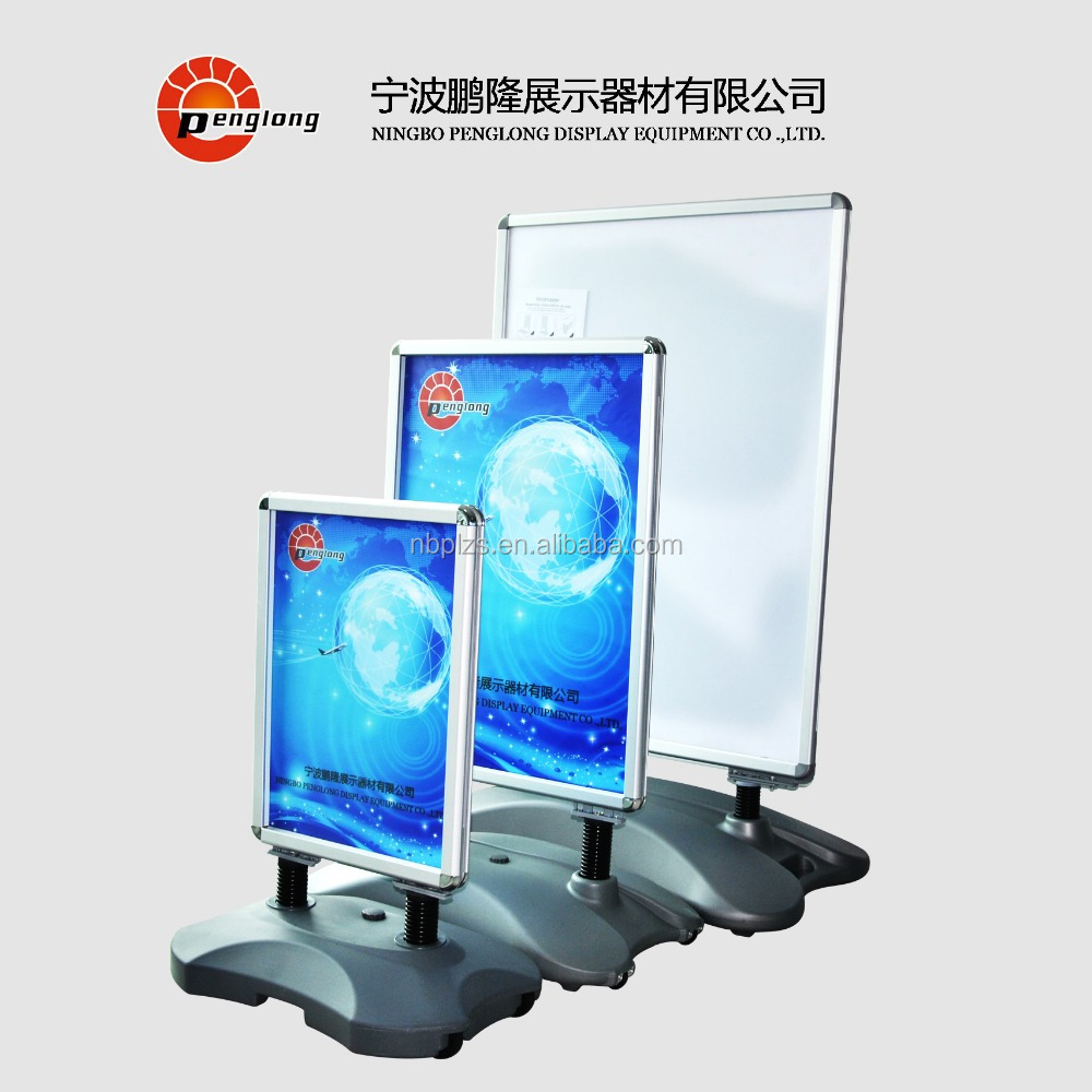 Hot aluminum frame standing,advertising poster display stands,footpath pavement sign