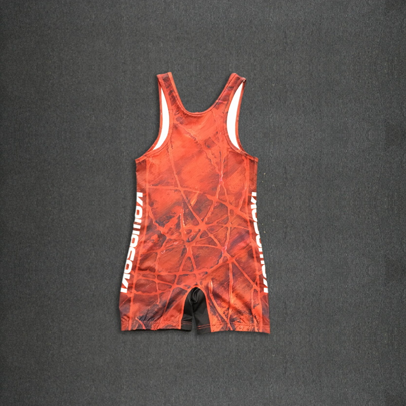 Custom wholesale sublimation wrestling singlet