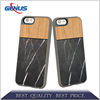 Customized wholesale Nature wood+PC phone case for iPhone 5