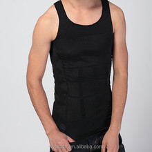 China Factory Men`s Slim Tank Top Compression Corset Sex Vest Body Shaper T-Shirt Weigh Loss Control