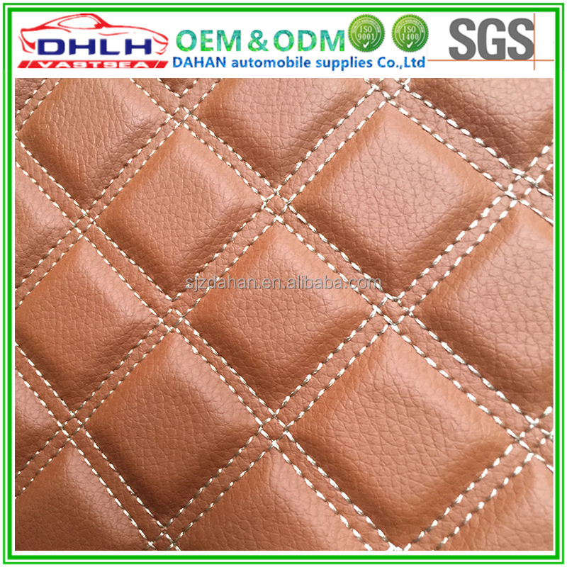 5D 3D Car mat quilting leather material