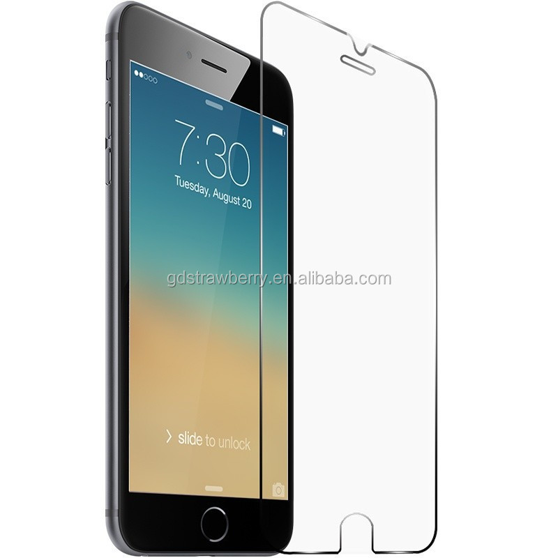 9H bubble free tempered glass screen protector for iphone 6 design with retail package