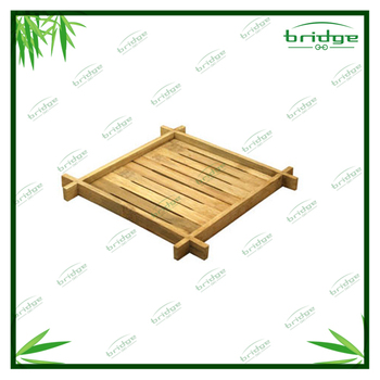New design kitchen Bamboo Square Plate Stand