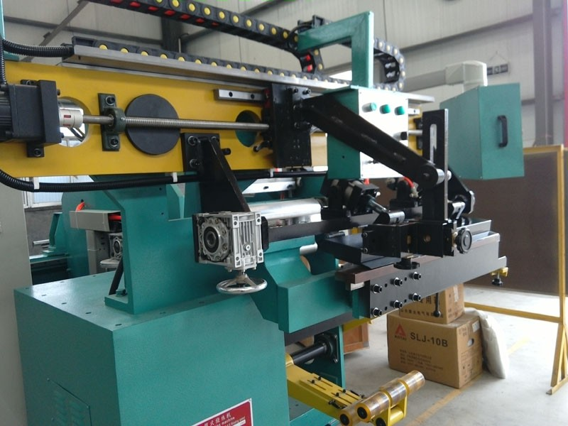 Amorphous enameled foil winding machine