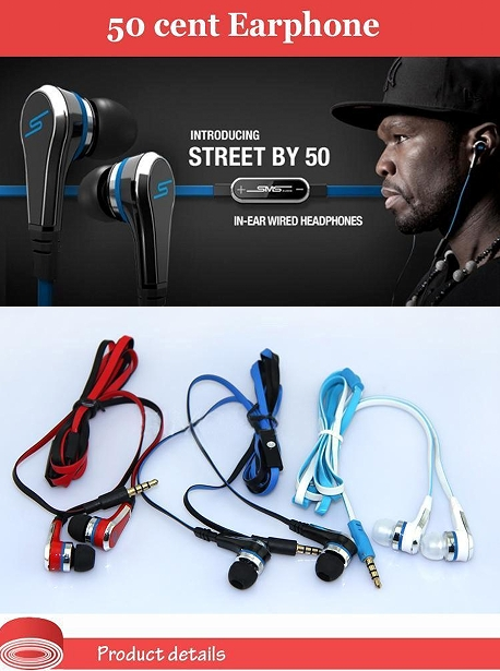DHL free Handsfree Earphones SMS Audio Street In-Ear Headphones With MIC and Volume Control for <strong>MP3</strong>/4 samsung Galaxy S6 S7