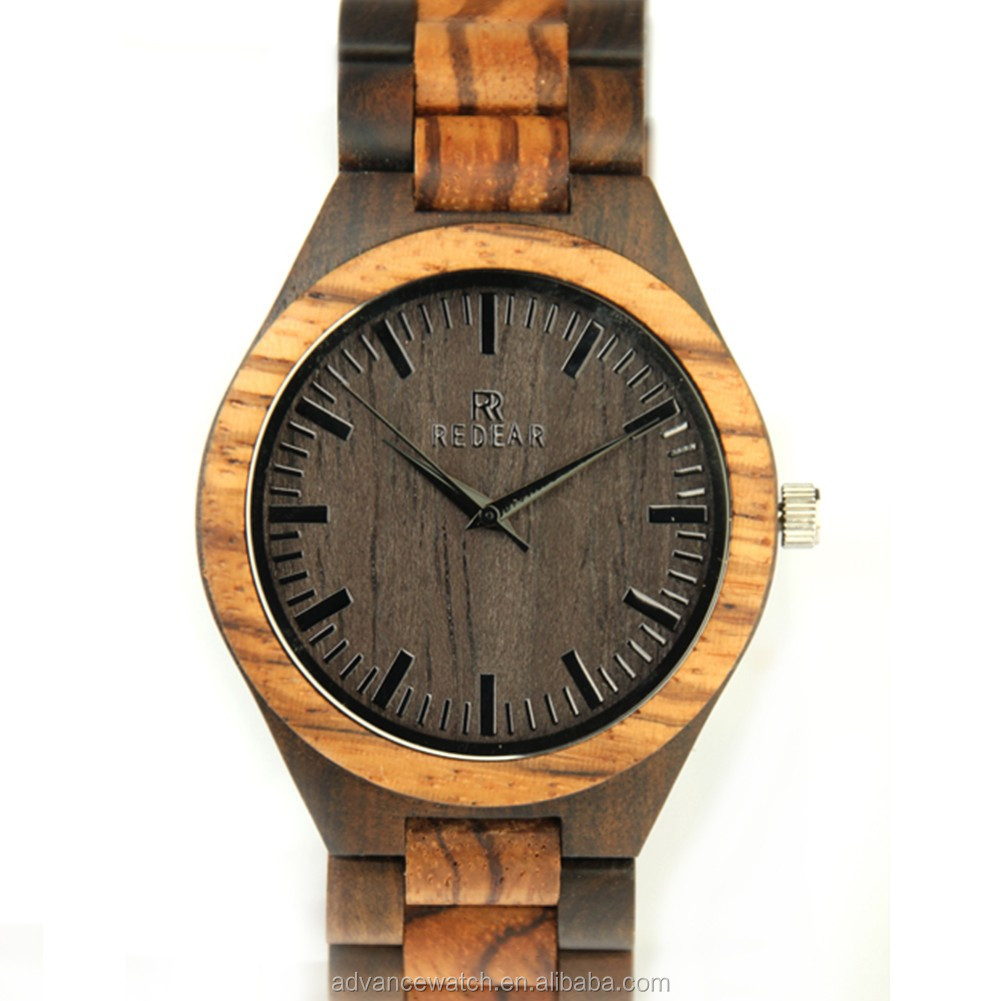 wholesale two tone wooden watch | bamboo wooden watch custom logo | wood watch