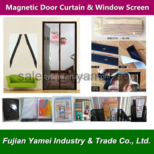 polyester DIY magnetic mosquito net door curtain