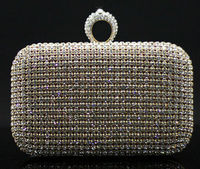 Hot seller! crystal beaded clutch bag, evening bag for lady