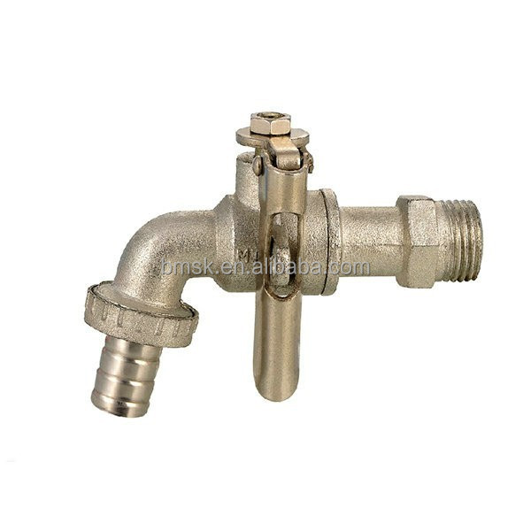 water tap with lock handle
