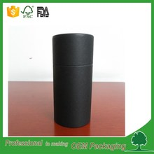 Custom printed high quality eco friendly black cardboard paper mailing tube for poster shipping packaging