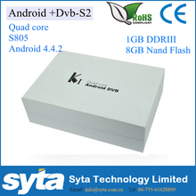 K1 KI DVB S2 Amlogic S805 Quad Core Android TV BOX + Satellite Receiver Support WiFi CCcam NEWcam KODI ADD-ONS Pre-installed
