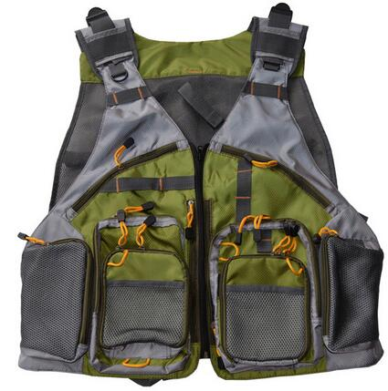 Fly Fishing Vest With Multifunction Pockets Outdoor Handy Adjustable Mesh Fishing Backpack Vest