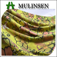 Mulinsen Textile 118D FDY Polyester Flower Printed Dress Fabrics 2.8 Per KG