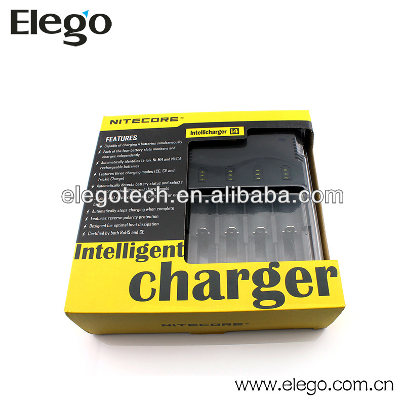 Convenient Nitecore Intellicharger I4 Charger Applying to 18650 18350 Battery