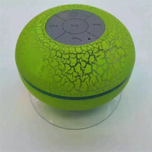 BTS06 Upgrade Version Wireless Speaker Crack LED Waterproof Wireless Shower Speaker