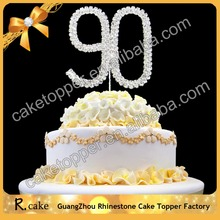 Custom Crystal Numbers 90th 80th Arabic Wedding Cake Toppers Wedding Decoration Centerpieces Cake Accessories Wholesale