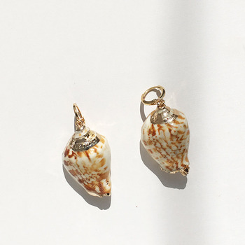 2019 wholesale fashion marine style natural gold-plated shell conch earrings ocean shell pendant earring jewelry