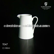 hot sale white ceramic milk pot/Wide Milk Jug Cream Jug Cofffee Pot/daily use goods ceramics milk jug
