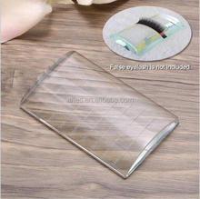 New CM size printing Eyelash Extension tool U-Shape Crystal Glass Adhesive Glue Pallet/ Crystal Stone for Eyelashes Extension