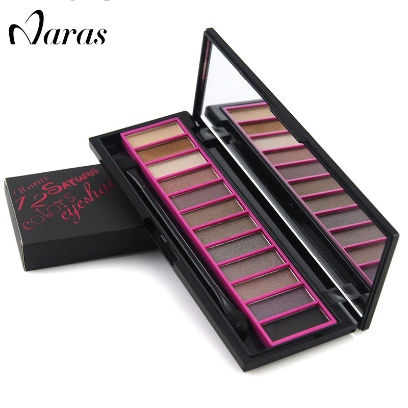 Professional High quality 12 colors eye shadow Palette make up your own logo
