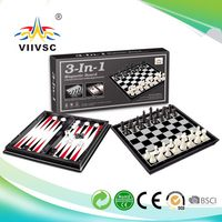 Best price top sell strong packing 3 in 1 magnetic chess