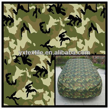camo print taffeta car cover fabric