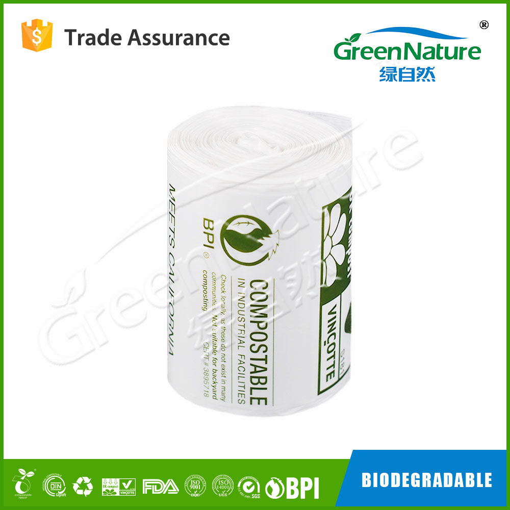 custom printed Home compost AS5810 biodegradable & compostable garbage bags and trash liners for