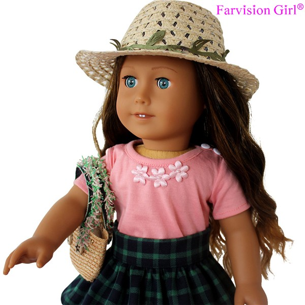 Wholesale 18'' American Girl Dolls with big eyes nude beautiful wigs doll