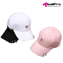 custom logo Promotional Sports Caps multi-color 6 panel constructed cap adjustable baseball hat