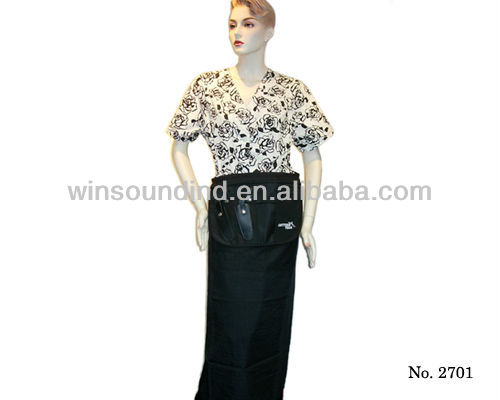 Hair stylist Black Nylon Apron AZO FREE