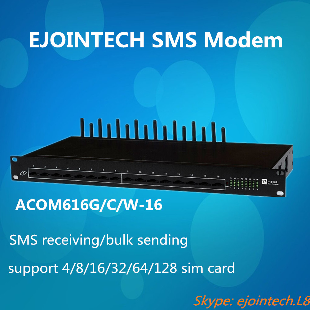 16 port SMS Modem gateway provide sms gateway solution for bulk sms sending