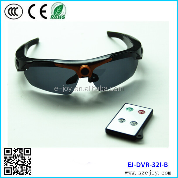 Video recording & taking photo 720p hd sunglasses sport camera EJ-DVR-32I-B