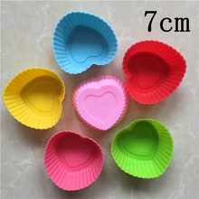 Heart Round Rose Star triangle Reusable silicone muffin cupcake mould cupcake decorating cheap price Silicon cupcake baking cups