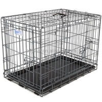 professional manufacturer pet crate 2 Doors Pet Folding pvc coated Dog Cage