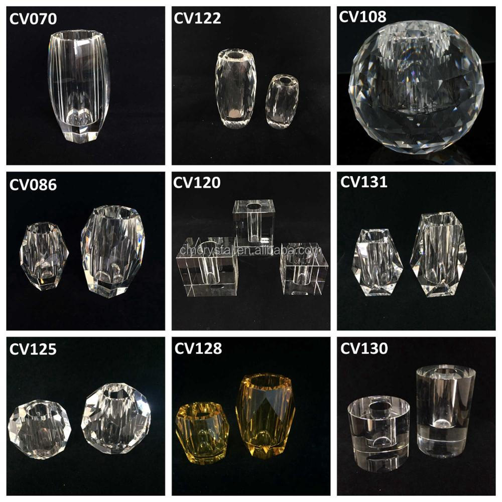New patent design Crystal vase set,heavy crystal vase