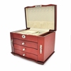 Custom New Design Large Capacity Wooden Wedding Favor Jewelry Storage Box With Drawers