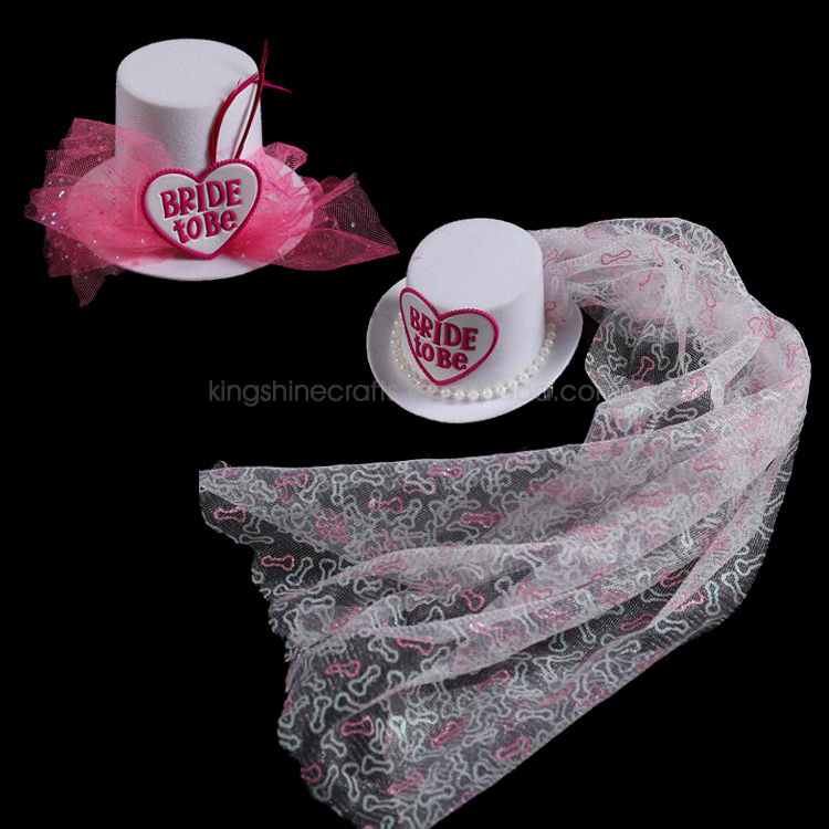 Hen Party Bride To Be Mini Top Hat with Veil