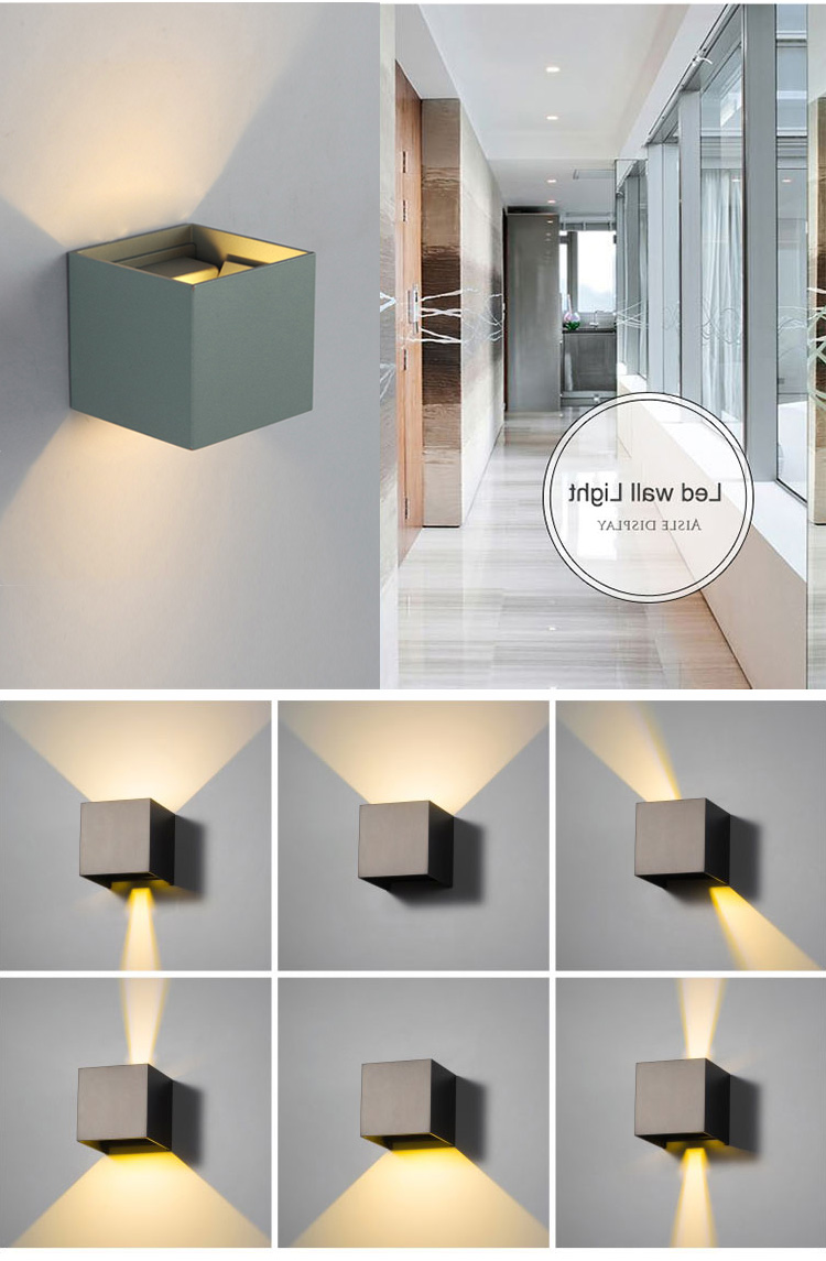 2018 Waterproof IP65 Modern Nordic style Indoor lamp Living Room Porch Wall Lamps 6W LED Wall Light Outdoor