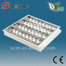 T8 fluorescent louver office recessed aluminum reflector T8 recessed mounted fluorescent lighting fixture