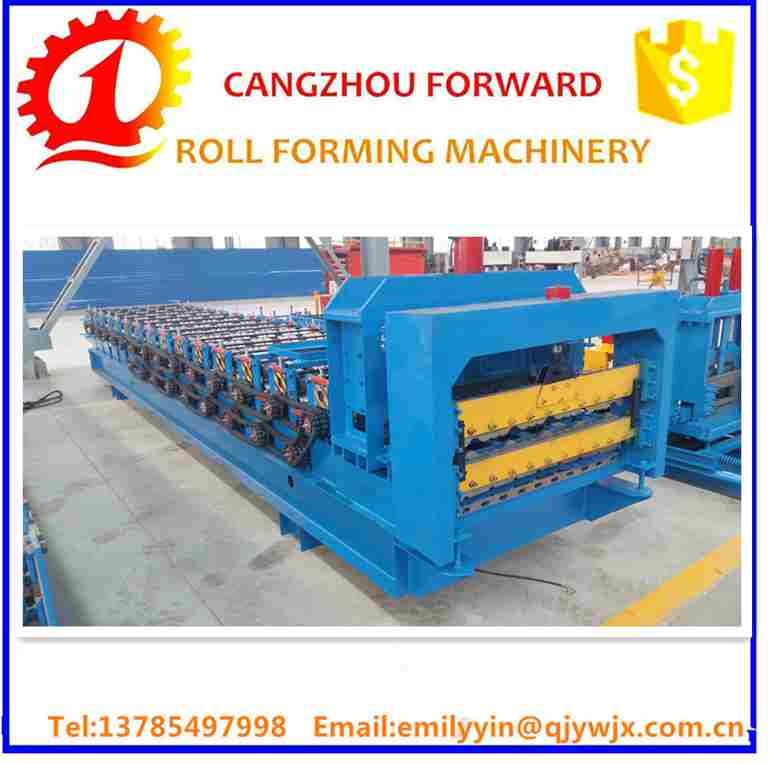 Double Layer Roll Forming Machine, 0.5-0.6mm Thickness, PLC Control, Cr12 Mould Steel Cutter