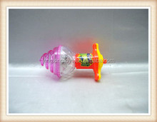 promotional plastic wind up spinning top toy,flashing spinning top